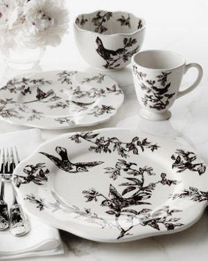 Brown Bird Toile Dinnerware J  sc 1 st  Pinterest & Pin by DIY ZEY on Black Bird Cottage | Pinterest | White cottage and ...