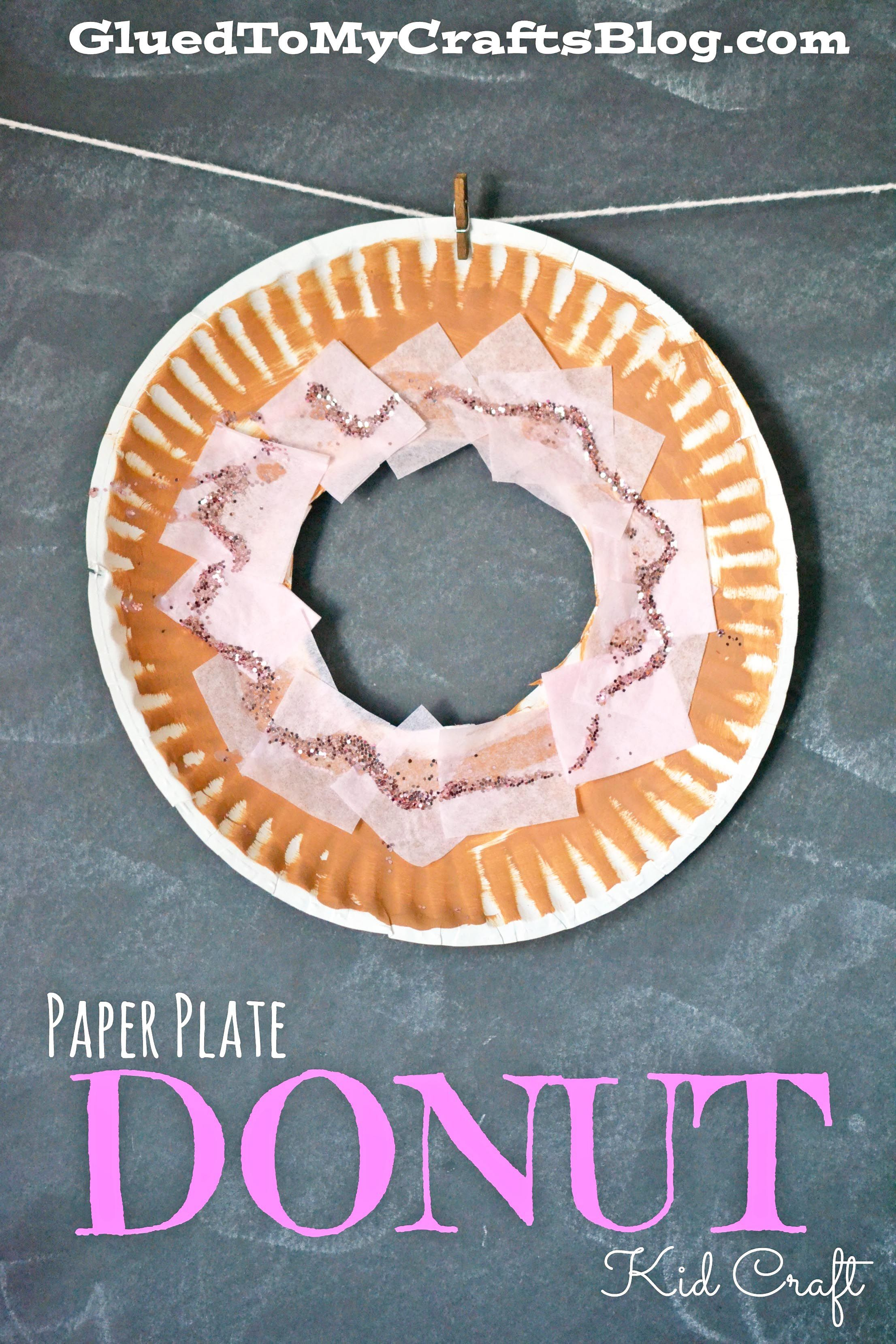 Paper Plate Donut Kid Craft