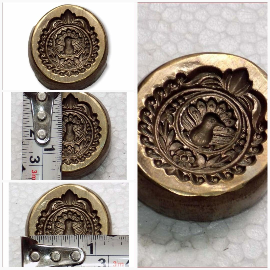 India Antique Bronze Jewelry Die MoldMould hand engraved designs of Indian Tradition Jewelry.#Bd-230