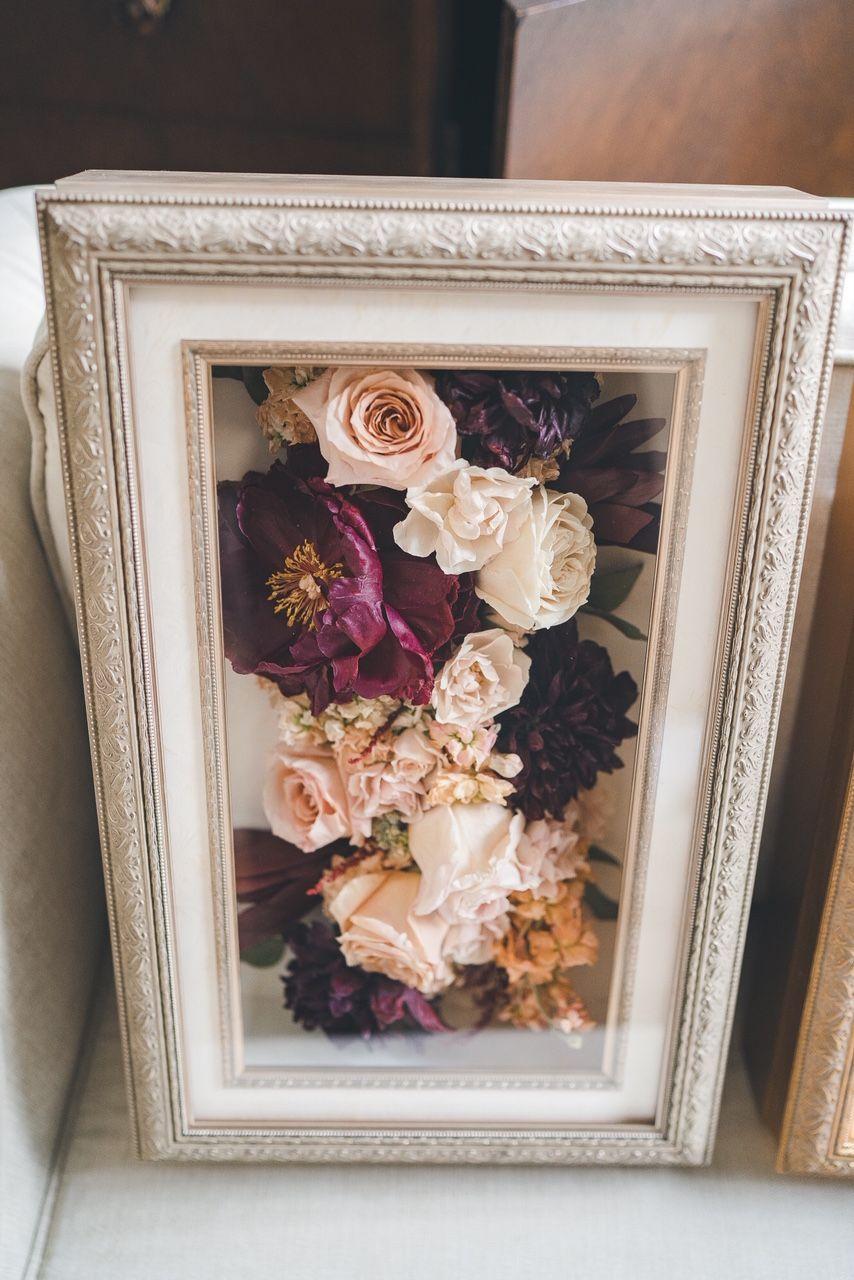 Flower Shadow Box Flower Shadow Box Wedding Shadow Box Bouquet