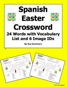spanish easter vocabulary crossword puzzle worksheet and vocabulary spanish easter crossword. Black Bedroom Furniture Sets. Home Design Ideas