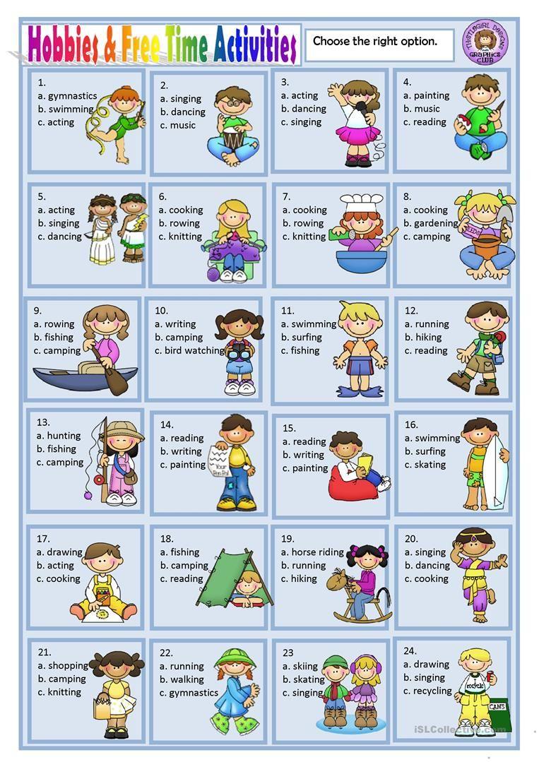Resultado De Imagen De Free Time Activities Aprender Ingles Vocabulario Expresiones En Ingles Y Deportes En Ingles