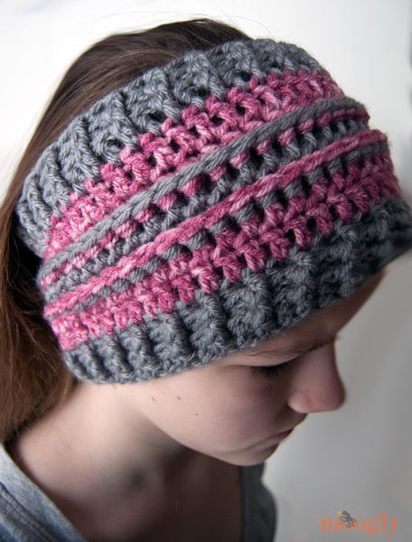 All Grown Up Ear Warmer: free #crochet pattern in 2 sizes! Perfect ...
