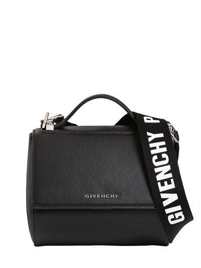 GIVENCHY - MINI PANDORA BOX LEATHER BAG W  STRAP - BLACK  5be007a2c5ba9