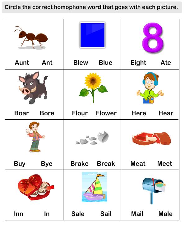 esl efl worksheets kindergarten worksheets homophone word worksheets educational. Black Bedroom Furniture Sets. Home Design Ideas