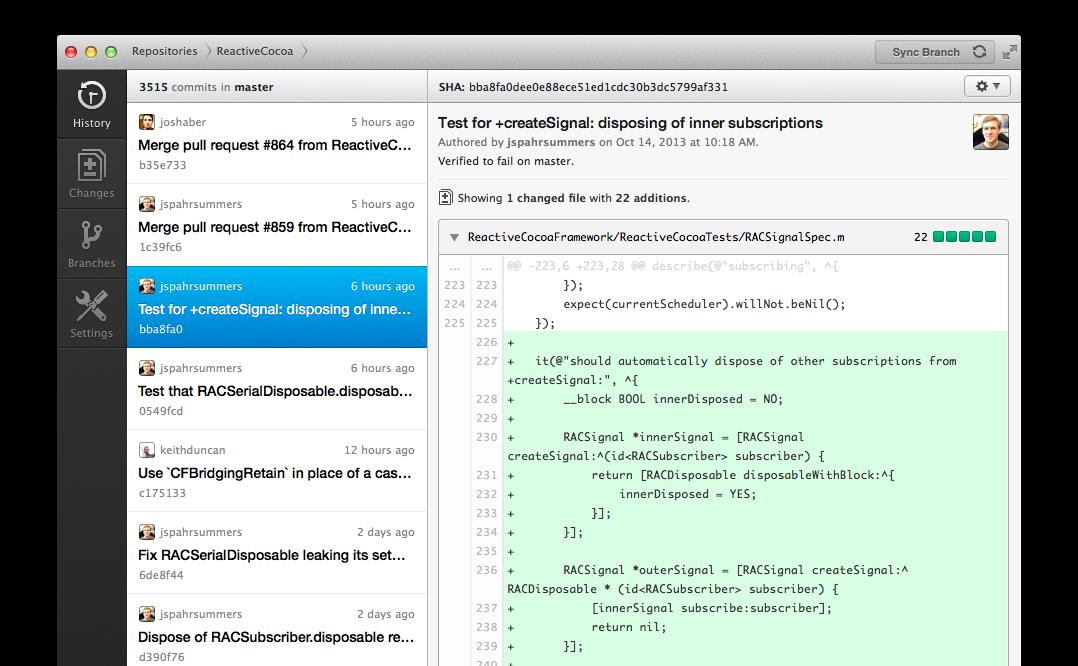 Screenshot of GitHub for Mac Github, Drupal, Development