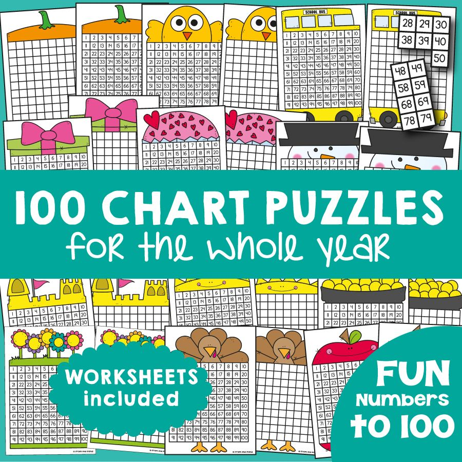 100 Chart Activities for the Year! | 100 chart, Math and Activities