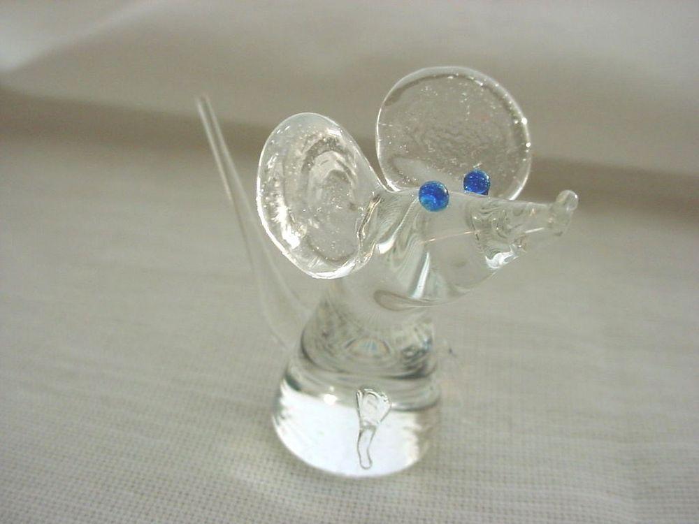 Handmade Blown Glass Mouse