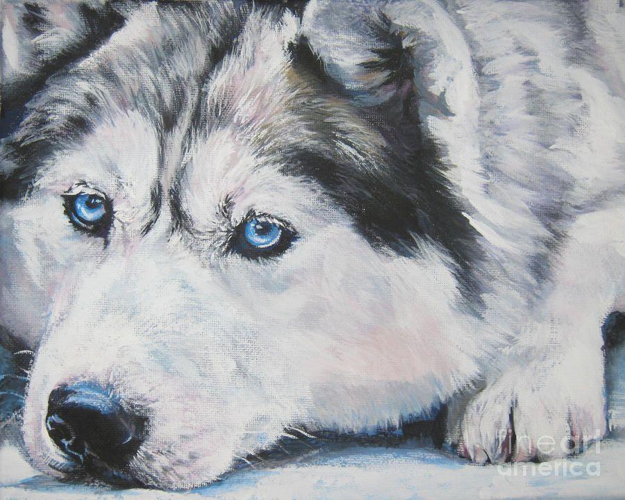 Siberian Husky Up Close Painting - Siberian Husky Up Close Fine Art ...