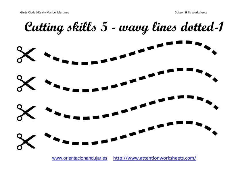 Images scissor skills worksheets collection 1 for List of fine motor skills for preschoolers