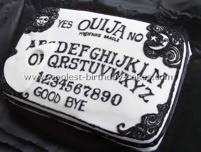 Ouija Board Cake Photo