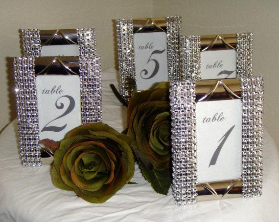 Set of 10 Silver Rhinestone 2 x 3 Photo Frames- Wedding or Special ...