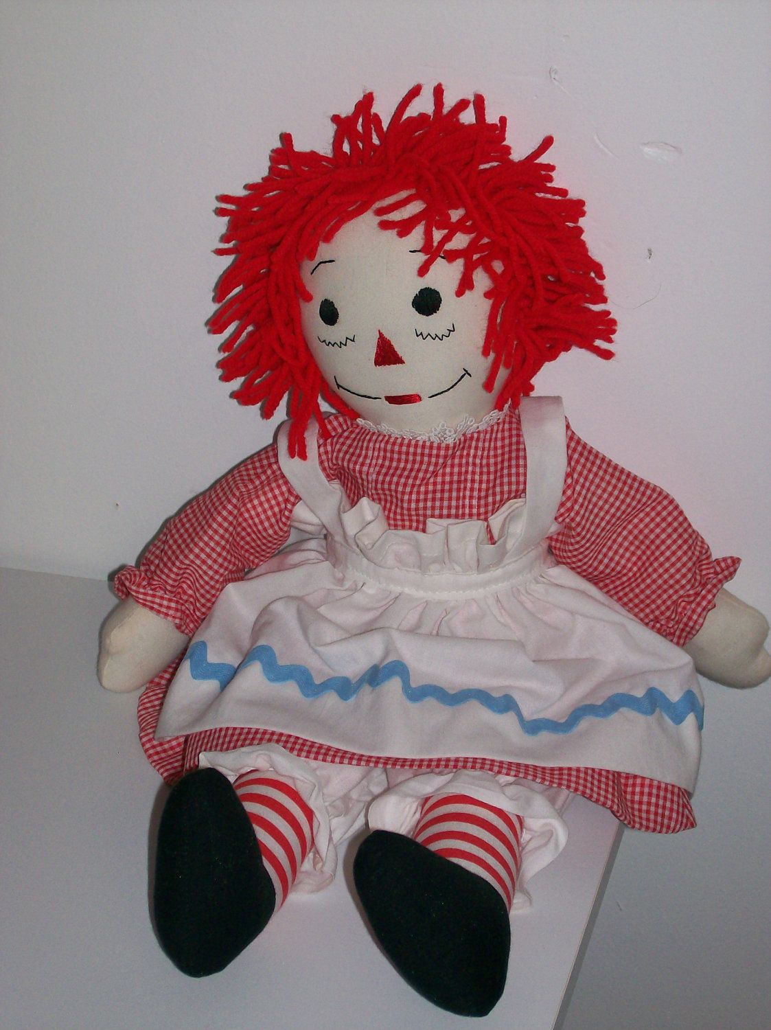 Raggedy Ann Doll by PrettyBabyDollHosp on Etsy