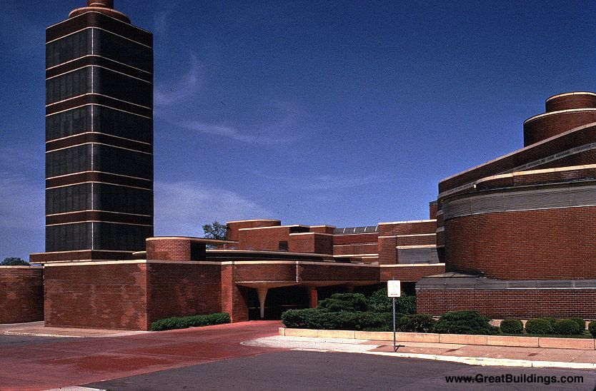 Superior Johnson Wax Building In Racine, Wisconsin By Frank Lloyd Wright    Reinforced Concrete, Precast Concrete And Brick