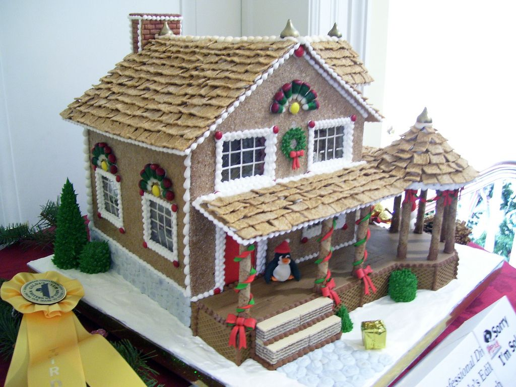 Gingerbread House With Big Porch In 2019 X Mas