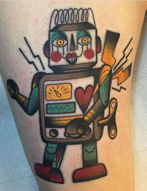 Ylenia Manzoni Vinil robot tattoo
