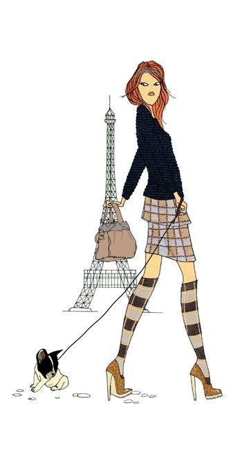 Do it in paris calcetines con taconazo paris - Dessin parisienne ...