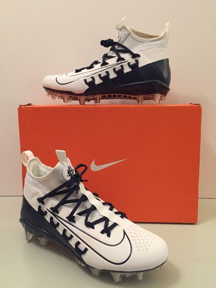 outlet store 84318 01010 Nike Alpha Huarache 6 Elite Lax Cleats White Navy Blue 880409-114 SZ 8.5  NIB 826216190812   eBay