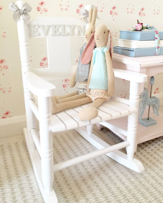 Child S Personalised Rocking Chair Ot Hugshearts Na Etsy