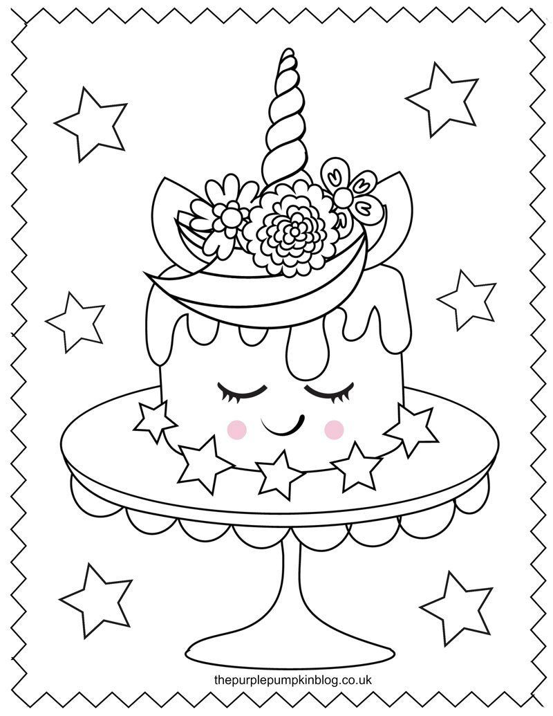 Unicorn Cake Coloring Sheet Unicorn Coloring Pages Printable Coloring Book Unicorn Pictures To Color