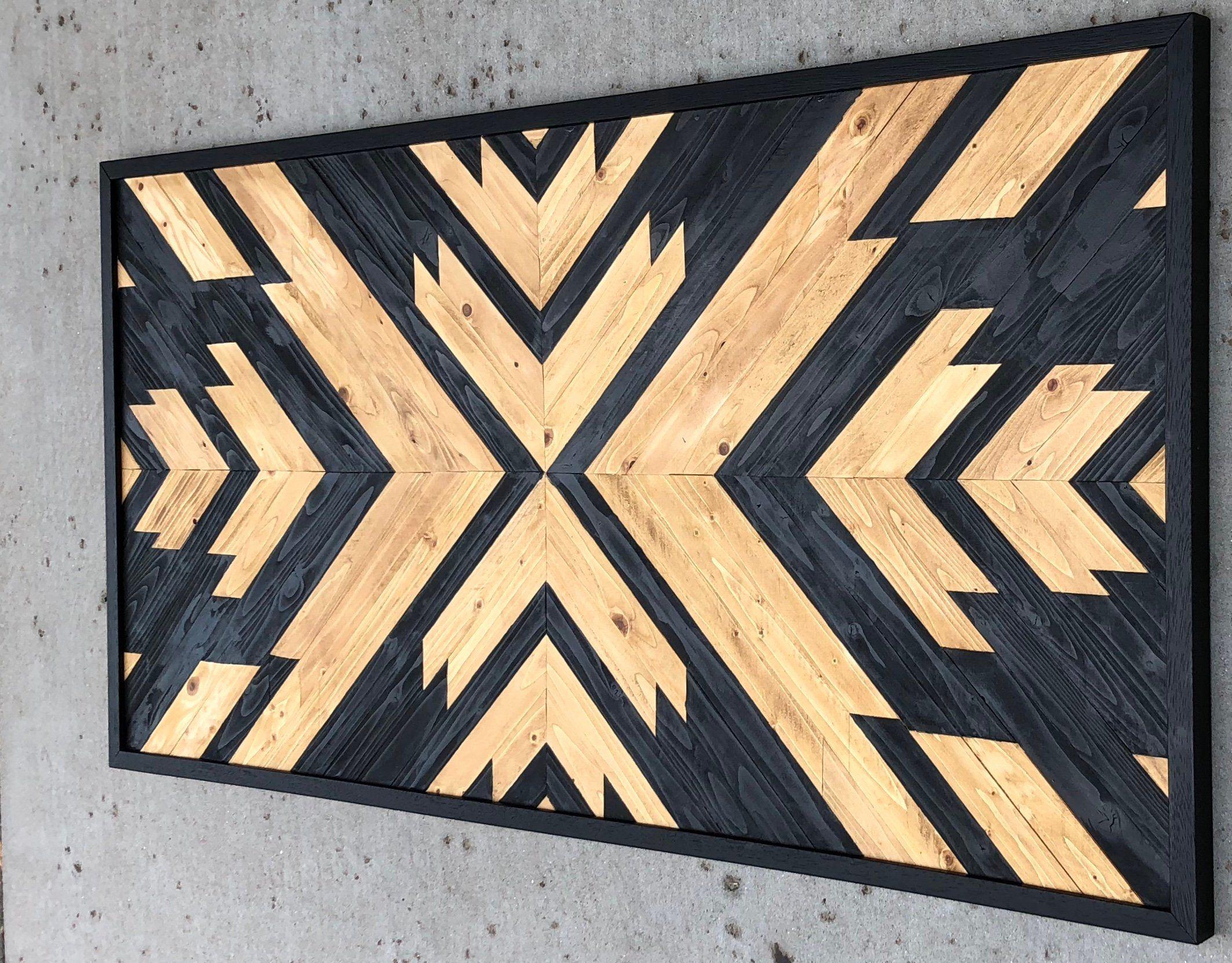 Wood wall art reclaimed wood wall decor wood art modern wall
