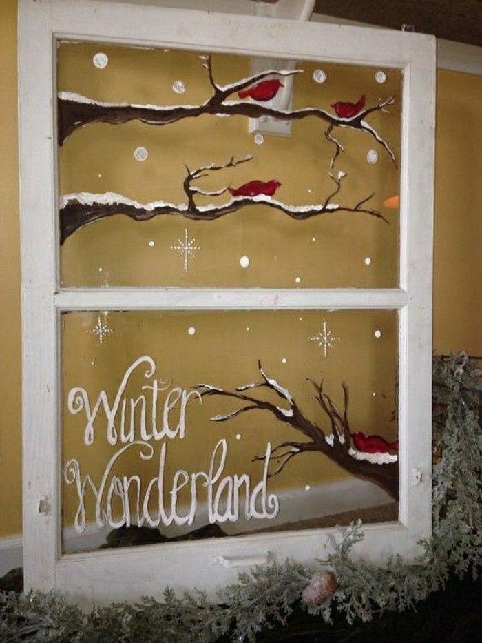 Feine Fensterbilder zu Weihnachten und Winterzeit - Archzine.net