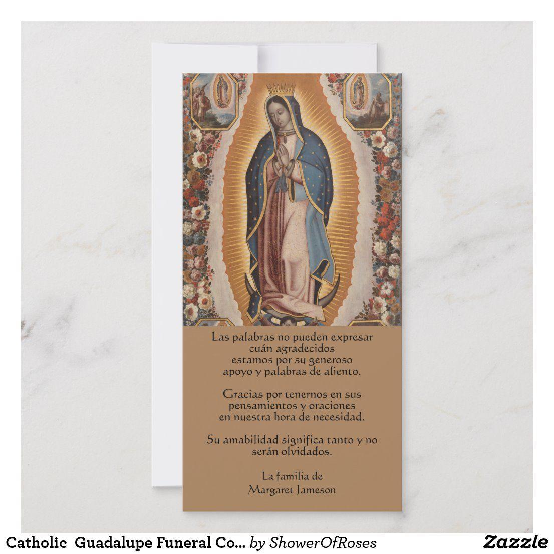 Catholic guadalupe funeral condolence spanish thank you