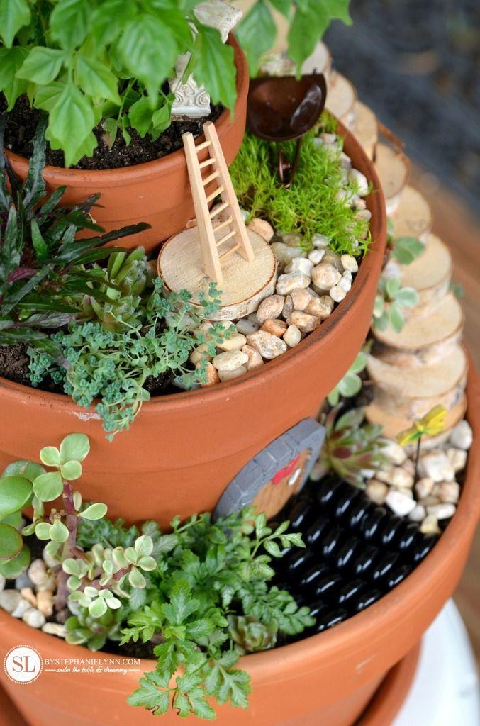 Fairy Garden Flower Pots Flower pot miniature fairy gardens fairy gardens and fairy garden make flower pot fairy gardens michaelsmakers workwithnaturefo