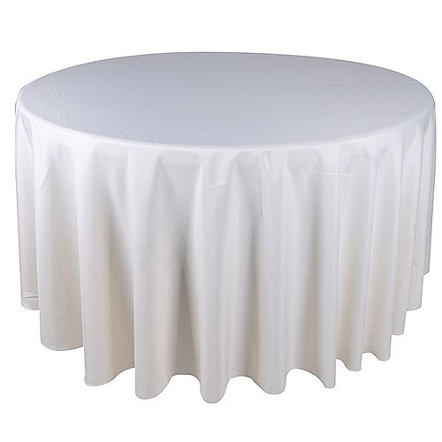 Tablecloths Ivory 120 Inch Round Tablecloths White Table Cover