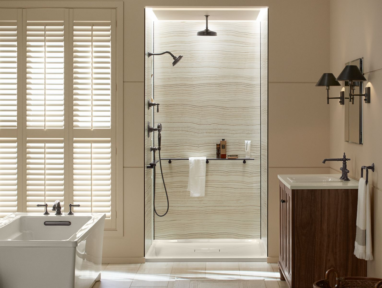 Shower Walls Bathroom Kohler With Images Shower Wall