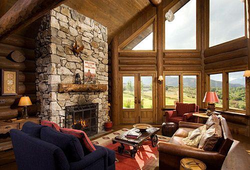 Idaho Log Great Room
