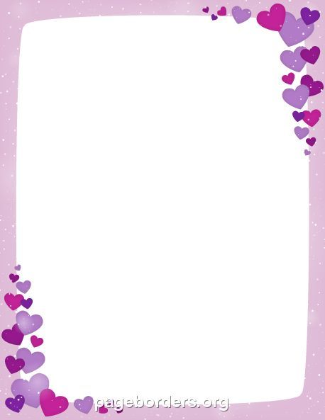 Printable purple Valentine border Use the border in Microsoft - downloadable page borders for microsoft word