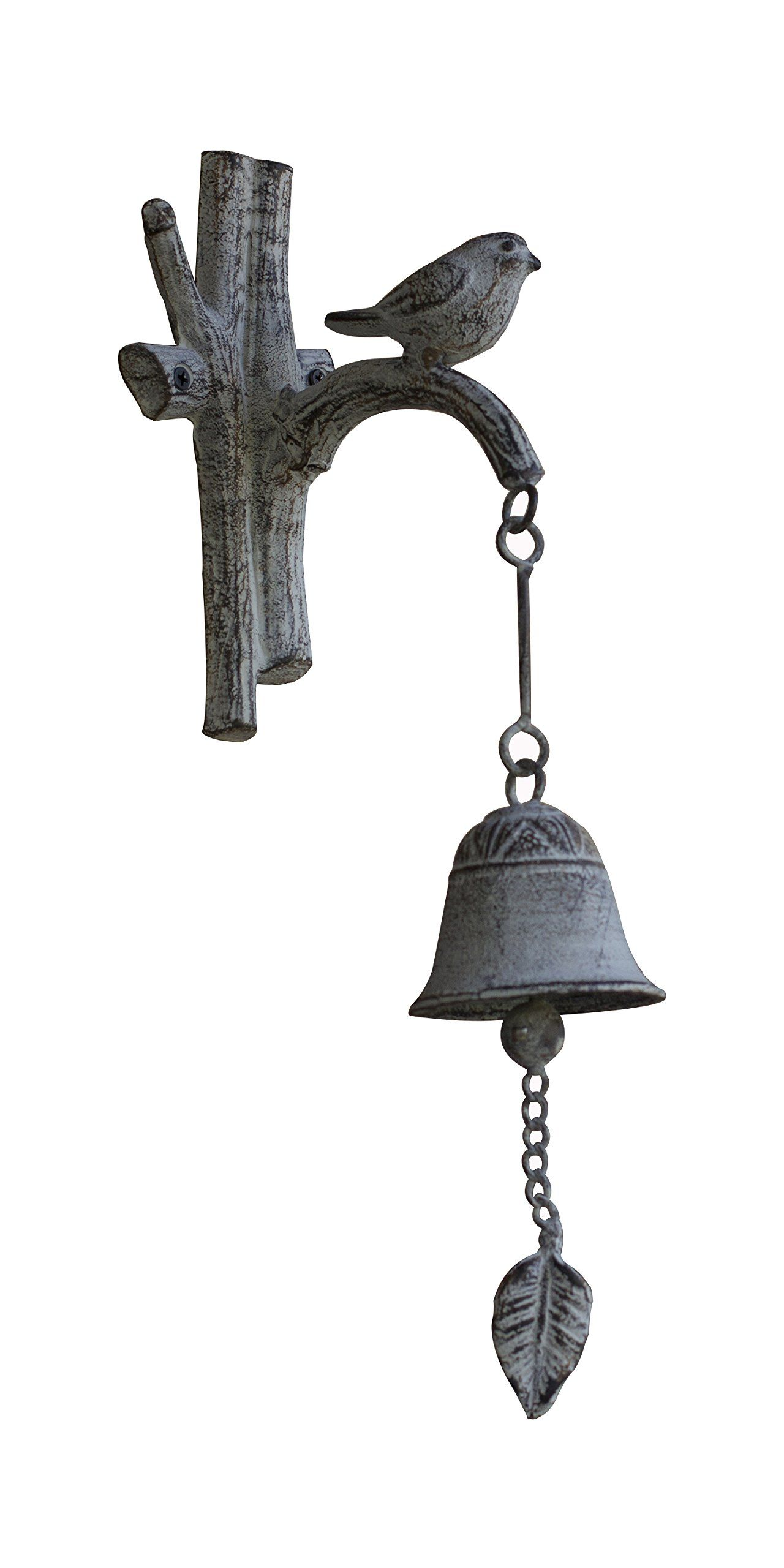 Cast Iron Country Doorbell Old Fashioned Decorative Bird On A Branch