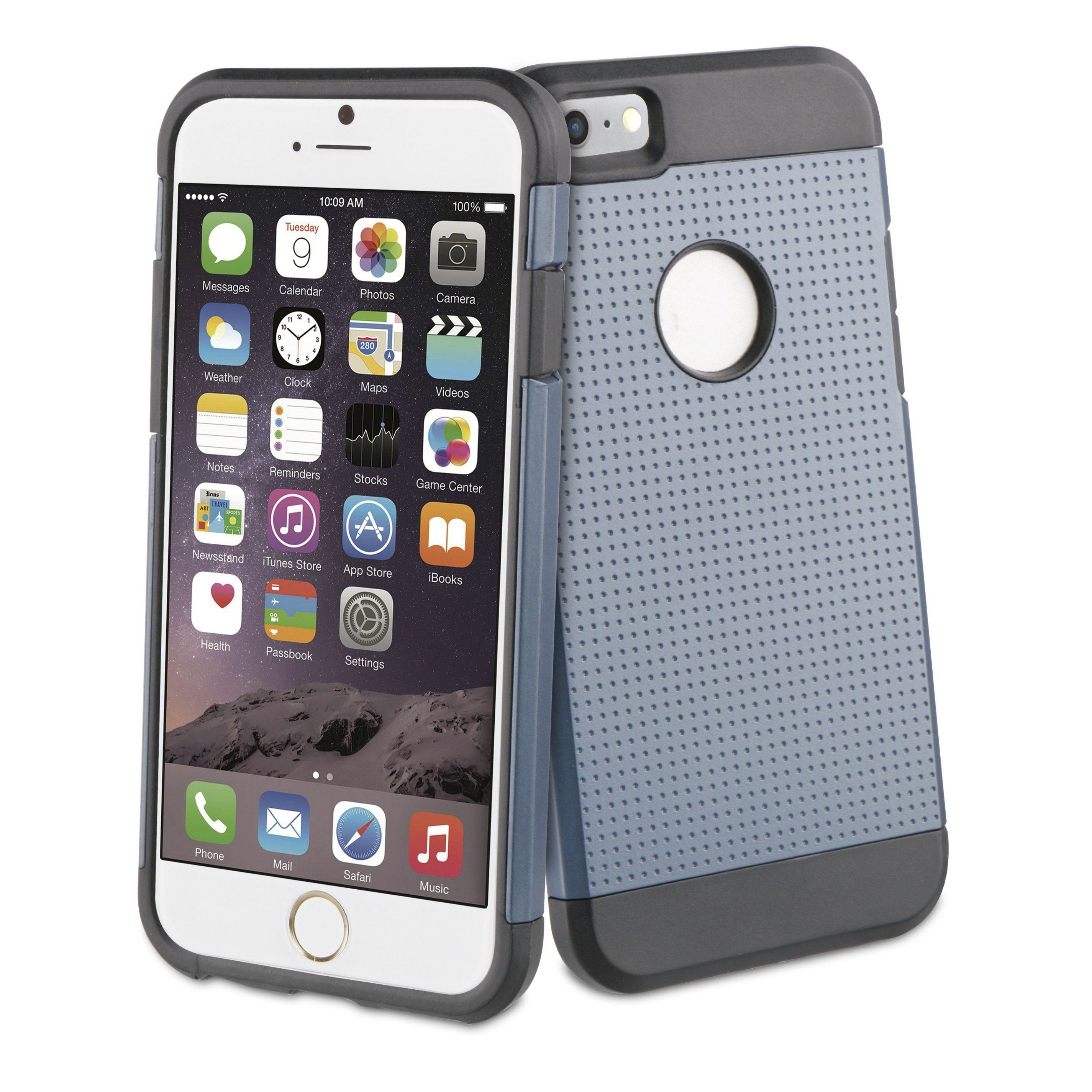 Carcasa para iPhone 6 Muvit Shockproof 2a Generación Gris Plata
