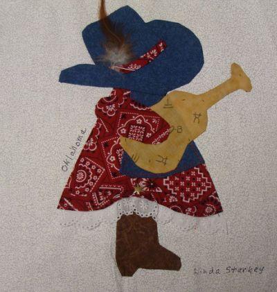 Sun Bonnet Sue\'s   Cowboy Quilt   Sam and Sue   Pinterest