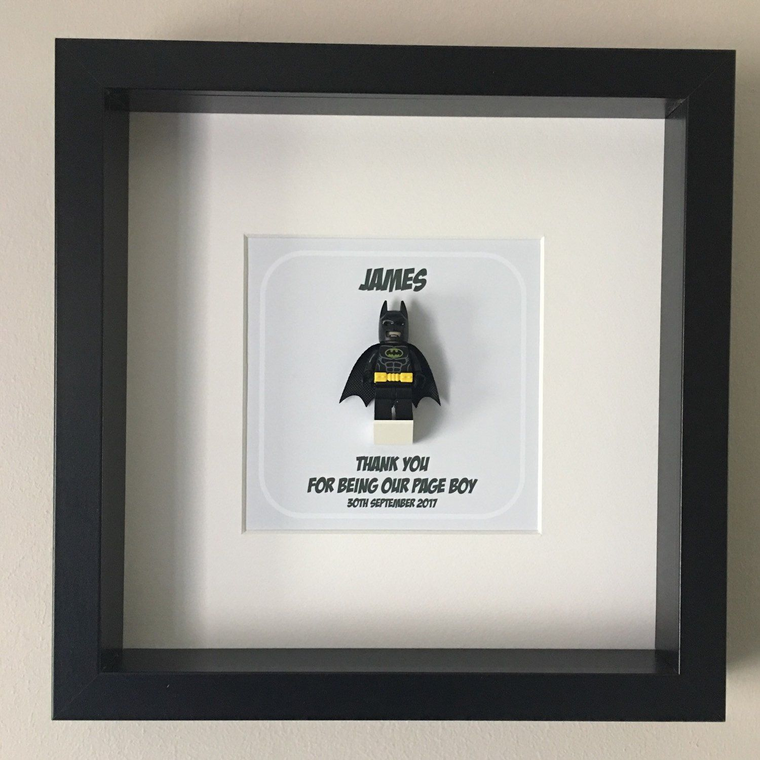 Page Boy Minifigure Frame, Mum, Gift, Geek, Box Frame, Framed,Idea ...