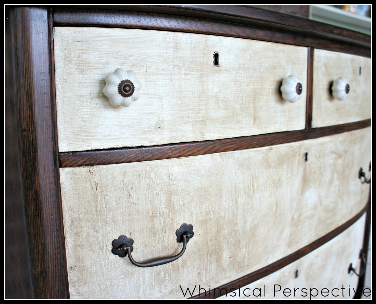 Whimsical Perspective: A Whimsical Makeover: The Rustic Dresser (part 2)