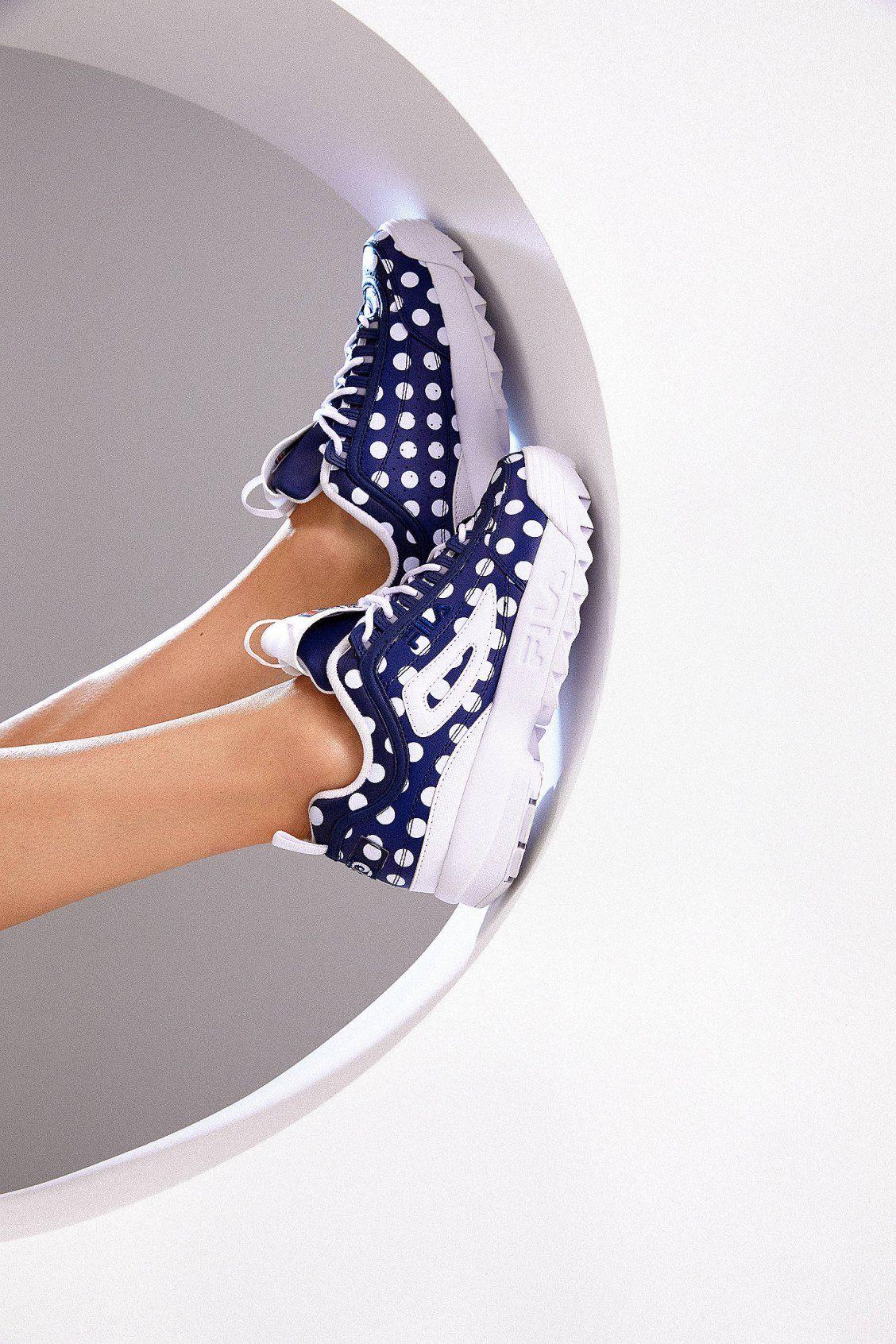 833242ded028 FILA + Pierre Cardin UO Exclusive Disruptor 2 Polka Dot Sneaker ...