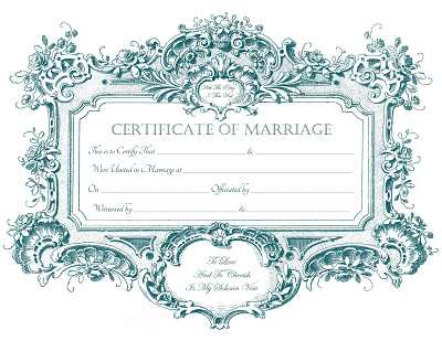 Keepsake Marriage Certificates For Free Download Free Graphics With
