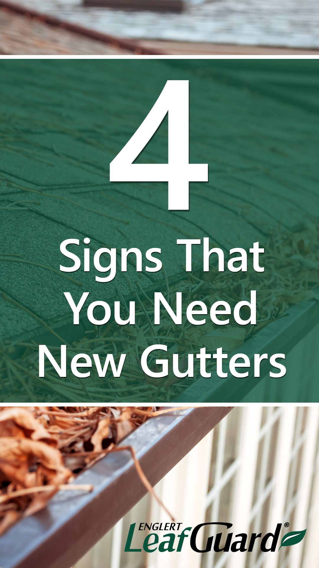 4 Signs That You Need New Gutters In 2020 Gutters Signs Cleaning Gutters