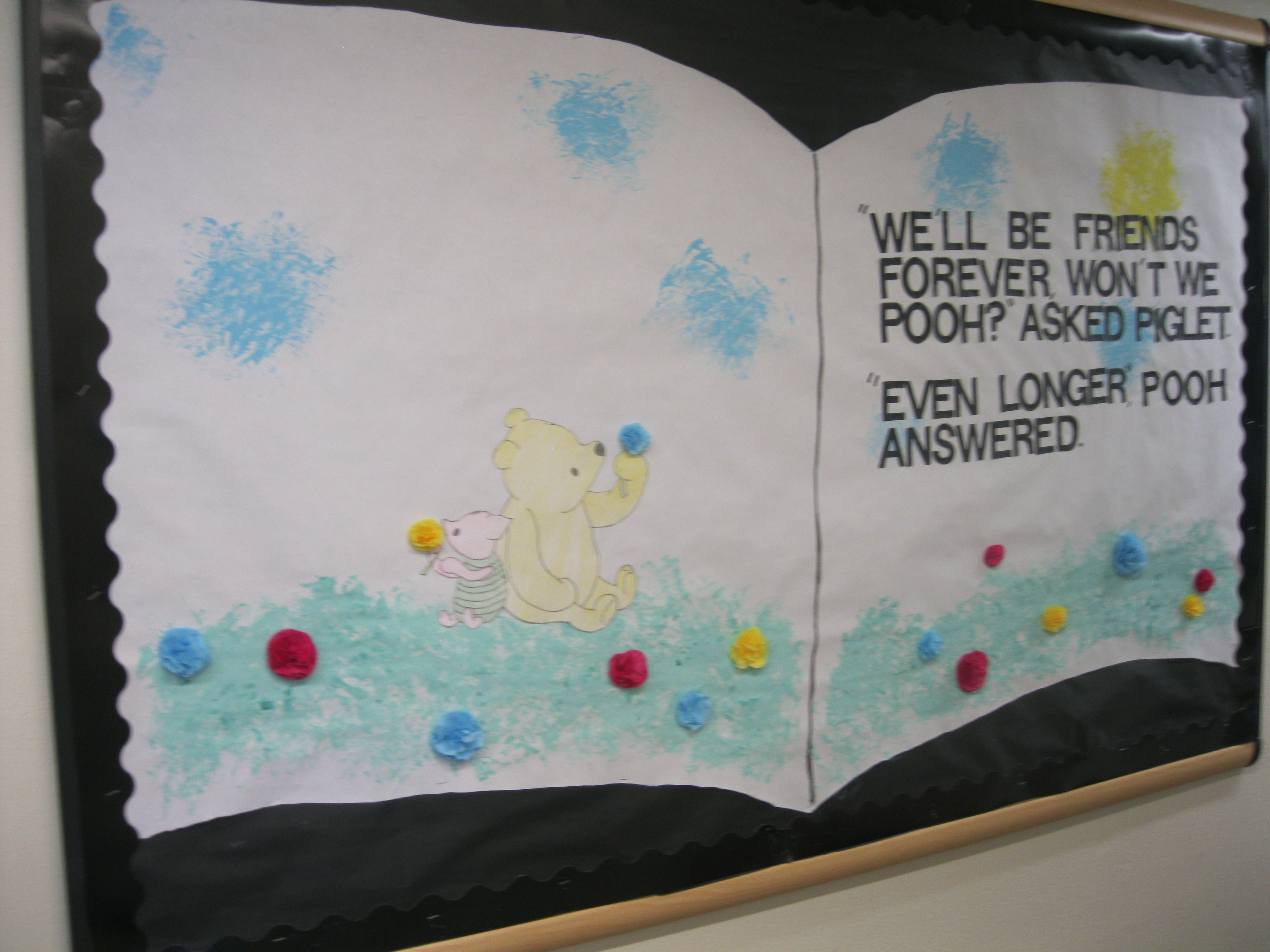 End Of The Year Winnie The Pooh Bulletin Board