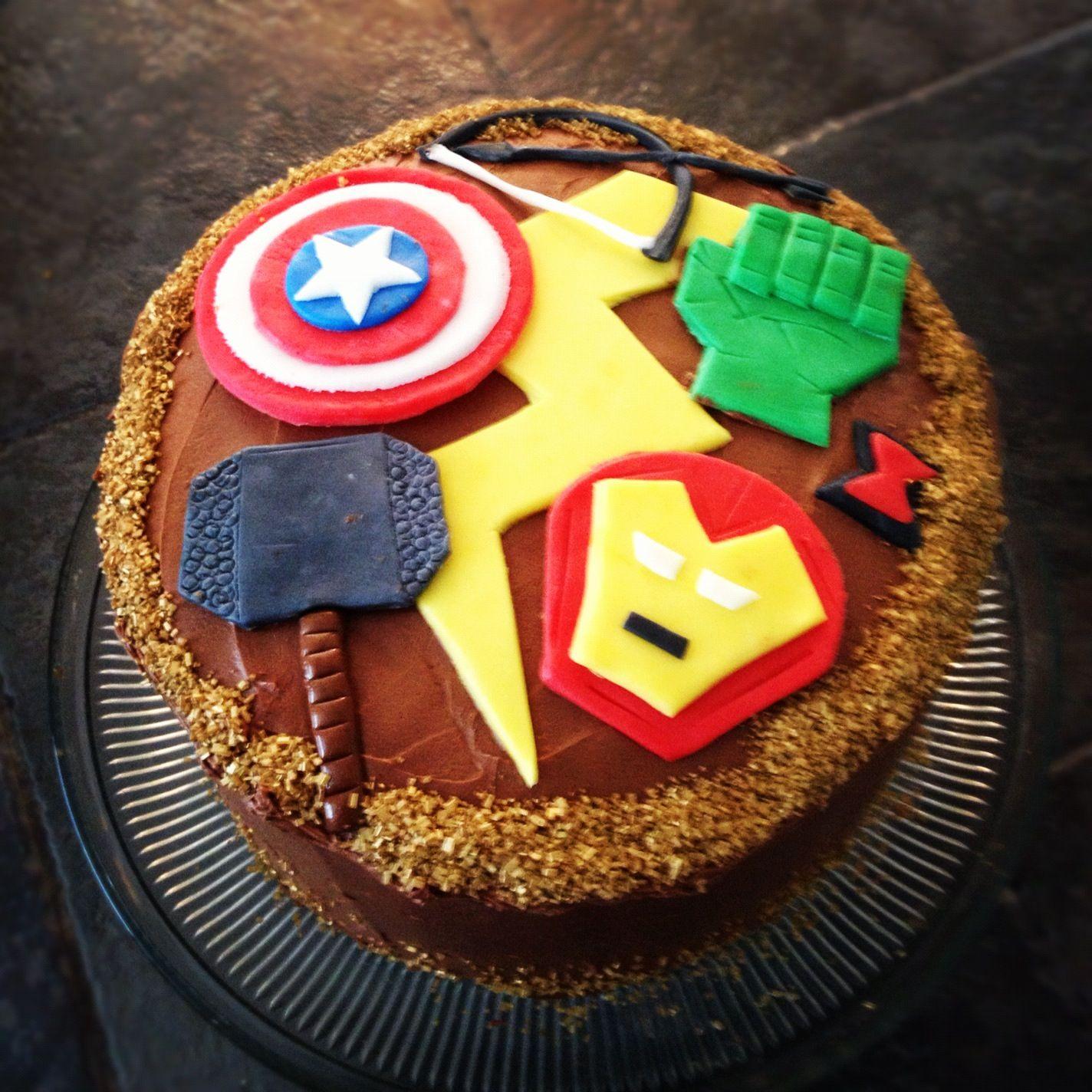 Avengers birthday cake cake decorating pinterest