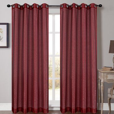 Bungalow Rose Sauve Solid Sheer Grommet Curtain Panels Drapes