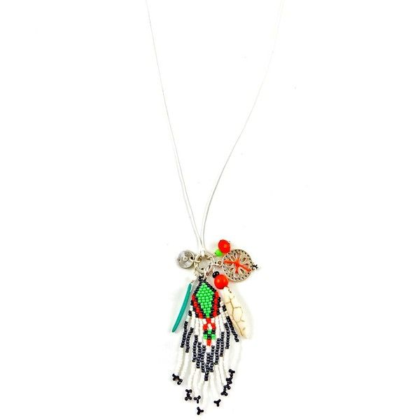 Sweetlime Fringed Cluster Long Necklace featuring polyvore women's fashion jewelry necklaces red disc pendant necklace red bead necklace long fringe necklace layered necklace long layered necklaces