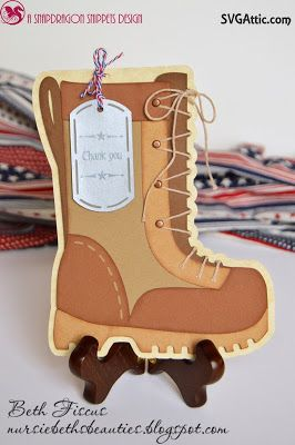 SVG Attic Blog: Combat Boot Card with Beth