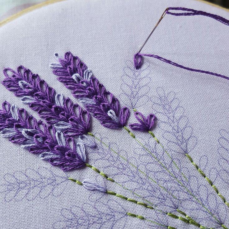 Das Lavender Embroidery Kit ist eine großartige Möglichkeit, um Ihre Faulenz zu üben … - Diy Hakeln