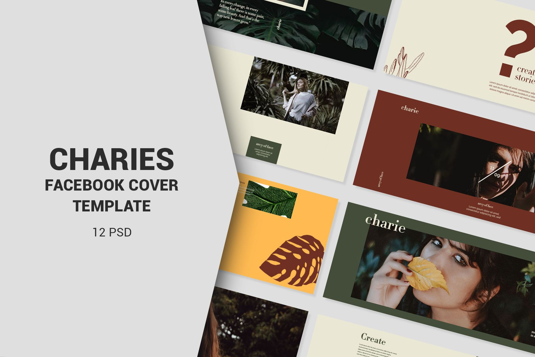 Charies Facebook Cover Templates 431069 Web Elements Design Bundles Facebook Cover Template Cover Template Facebook Cover Images