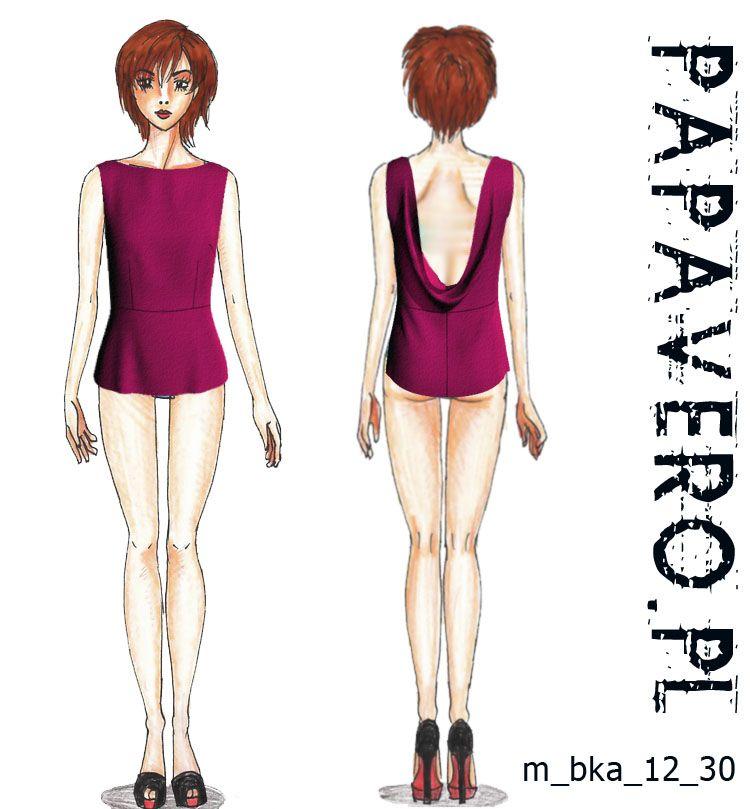 waterfall back blouse :: papavero free pattern | Sisi J | Pinterest ...