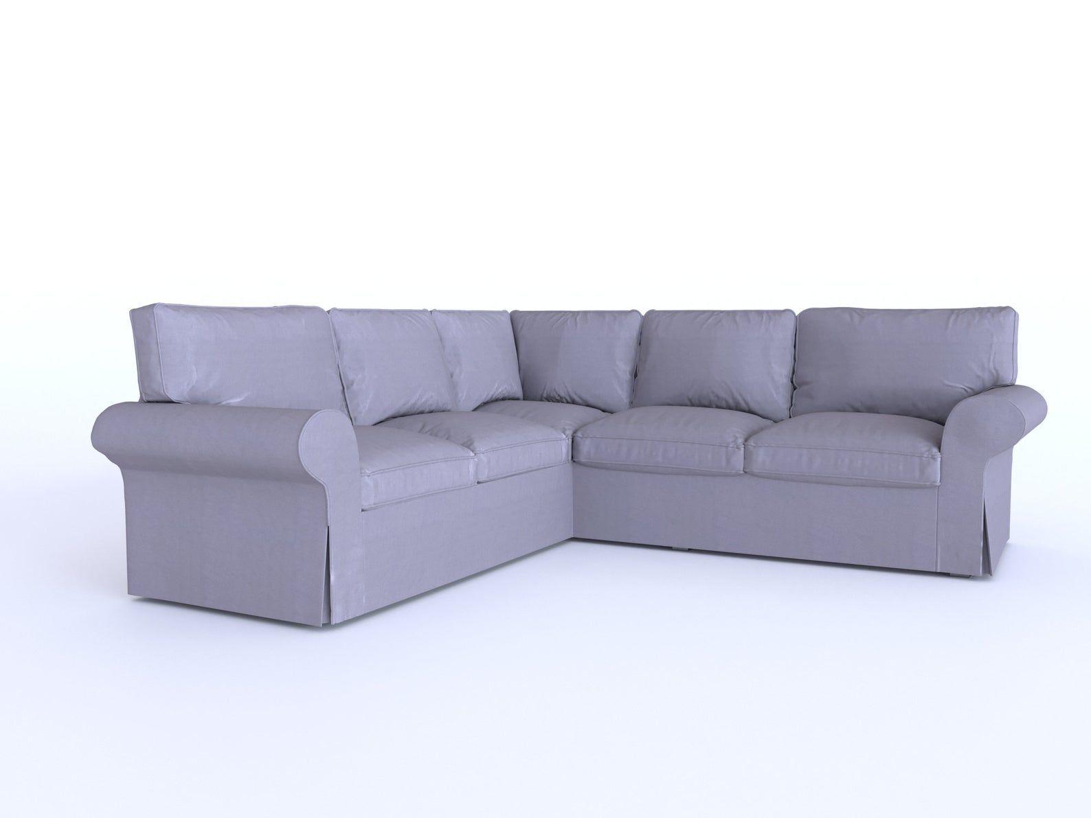 Whole Set Ektorp Corner Sofa Cover Heavy Duty Cotton Replace Etsy In 2020 Corner Sofa Covers Sofa Covers 4 Seat Corner Sofa