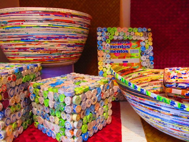 Creative art from recycled materials global exchange for Creative recycling projects